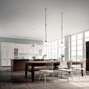 cozinha clássica / em freixo / em pedra / lacada
