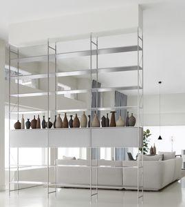 estante modular / divisora de ambientes / contemporânea / em alumínio