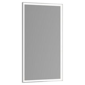 epelho para banheiro de parede / com iluminação LED / contemporâneo / retangular