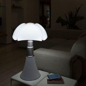 luminária de mesa / contemporânea / em aço inoxidável / em alumínio lacado