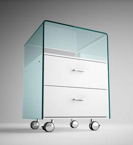 módulo de gavetas para escritório em madeira