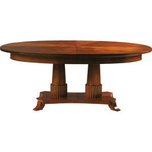 mesa de estilo Biedermeier / em cerejeira / com base em cerejeira / redonda