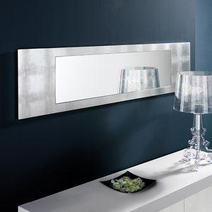 espelho de parede / contemporâneo / retangular / em madeira folheada a ouro