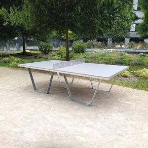 mesa de pingue-pongue contemporânea / para espaço público / para espaço público