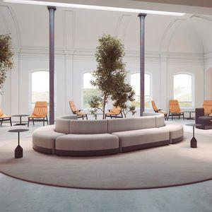 sofá modular / contemporâneo / em tecido / contract