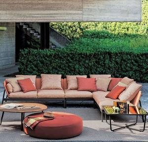 sofá de jardim / modular / contemporâneo / para zona de recepção
