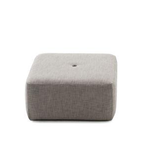 puff contemporâneo / em tela / em tecido acrílico / em tecido sintético