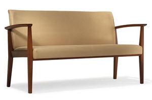 banco booth de lanchonete clássico / em couro / em madeira / para hotel