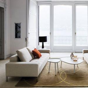 sofá modular / contemporâneo / em tecido / em couro