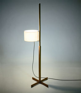 luminária de piso / contemporânea / em madeira / de metacrilato