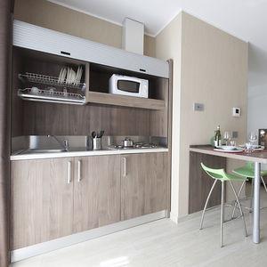 cozinha contemporânea / em melamina / modular / escondida