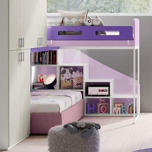 cama alta / de solteiro / contemporânea / infantil