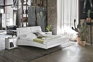 cama de casal / king size / contemporânea / em tecido