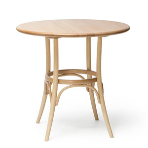 mesa clássica / em madeira maciça / com base em faia / redonda