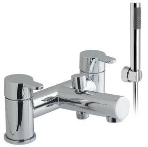 misturador monocomando para banheira / para box de banheiro / em metal cromado / 2 furos