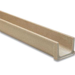 calha de escoamento em concreto de resina