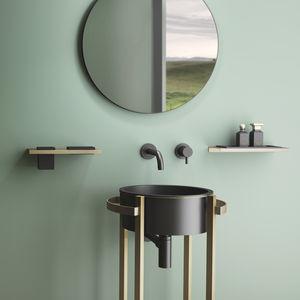 gabinete de banheiro de piso / em aço inoxidável / em VetroFreddo® / design minimalista