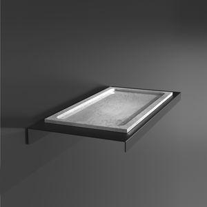 estante de parede / contemporânea / em aço inoxidável / em VetroFreddo®