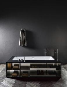 banheira freestanding / em Corian® / em mármore / em madeira