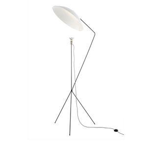 luminária de piso / contemporânea / em aço / em níquel