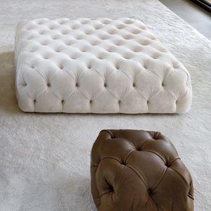 otomana contemporânea / em couro / quadrada / para ambiente interno