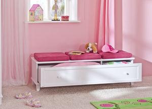banco estofado contemporâneo / em madeira / com compartimento de arrumação / infantil (unissexo)