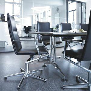 cadeira de conferência estofada