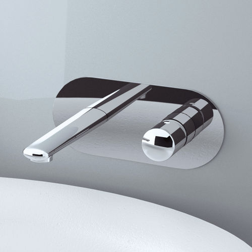 misturador monocomando para lavatório / de embutir / em latão cromado / 2 furos