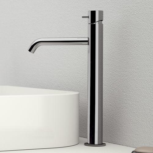 misturador monocomando para lavatório / em latão cromado / 1 orifício / modelo alto