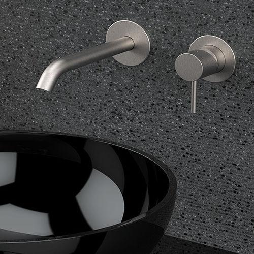 misturador monocomando para lavatório / para lava-mãos / de parede / embutido