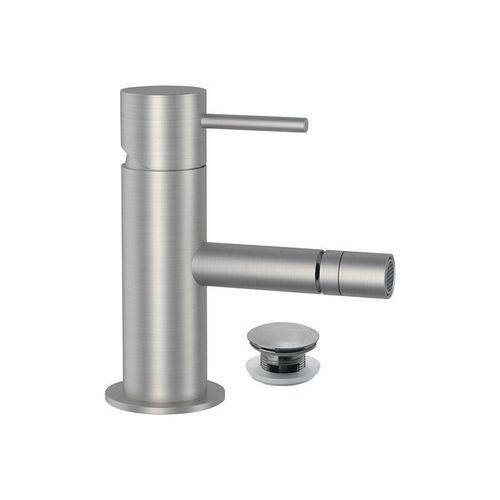 misturador monocomando para bidê / de bancada / em aço inox / 1 orifício