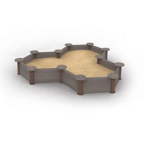 tanque de areia para parque infantil