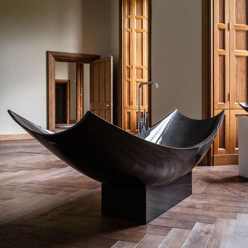 banheira freestanding / oval / em fibra de carbono