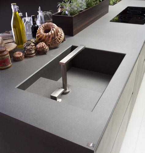 misturador monocomando metálico / para cozinha / 1 orifício