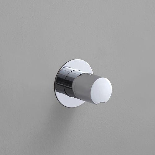 misturador monocomando para box de banheiro / de embutir / metálico / termostático