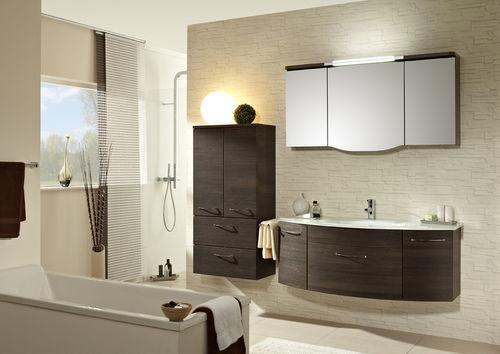 gabinete de banheiro suspenso / em madeira / contemporâneo / com gavetas