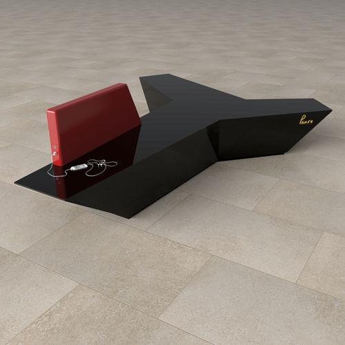 banco estofado modular / contemporâneo / em Corian® / para estabelecimento público