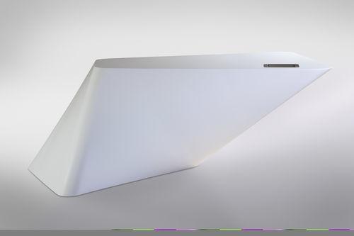 balcão de recepção em Corian® / com iluminação