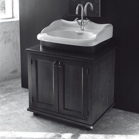 gabinete de banheiro de piso / em madeira / contemporâneo / com prateleiras