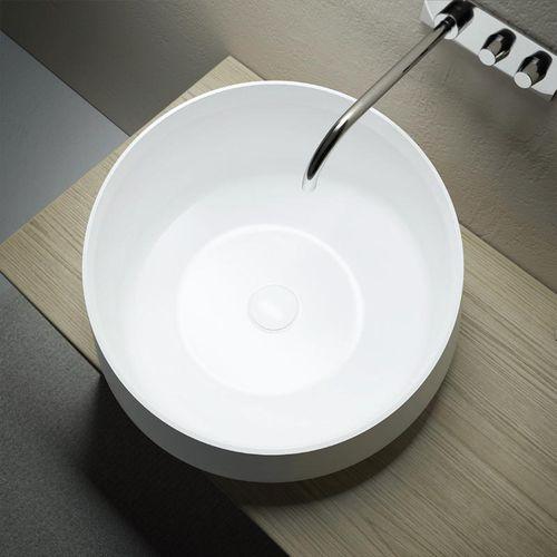 cuba de apoio / redonda / em Solid Surface / contemporânea