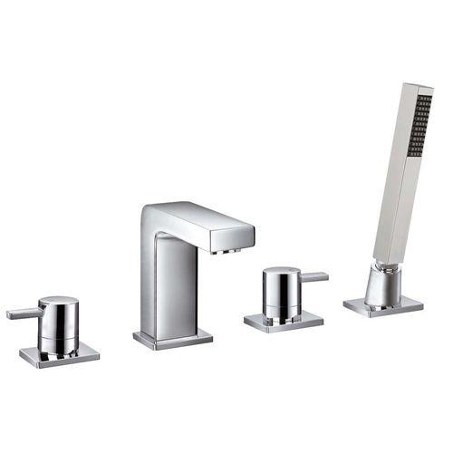 misturador bicomando para box de banheiro / para banheira / de pousar / em latão cromado