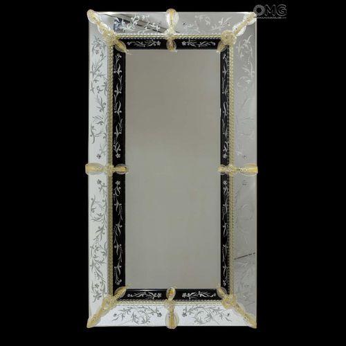 espelho de parede / de estilo veneziano / retangular / em vidro de Murano
