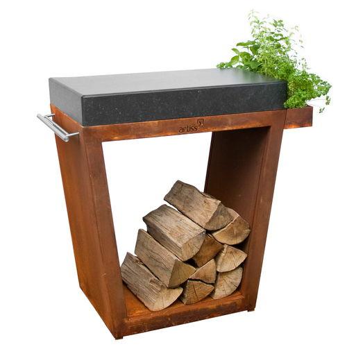 tampo de bancada em madeira