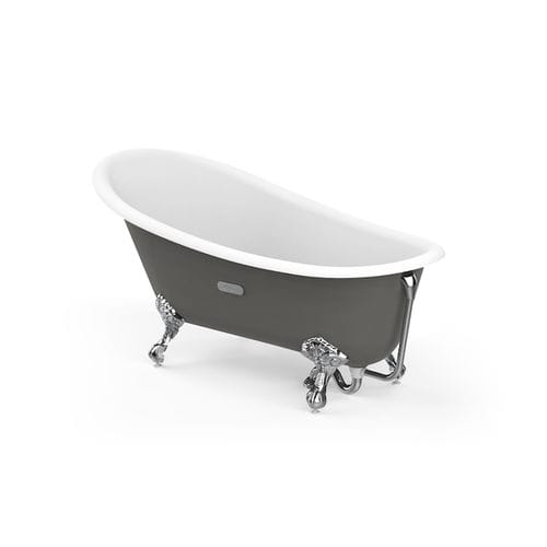 banheira com pés / oval / em porcelana