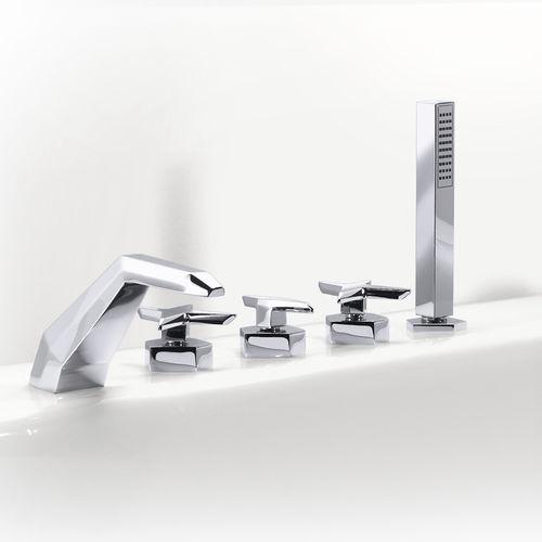 misturador bicomando para box de banheiro / para banheira / de bancada / em metal cromado