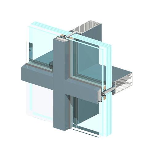 fachada-cortina com sistema stick