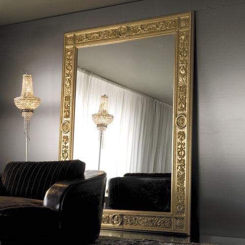 espelho de parede / de estilo / retangular / metálico