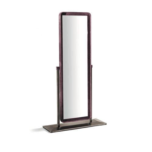 espelho de pé / basculante / contemporâneo / retangular