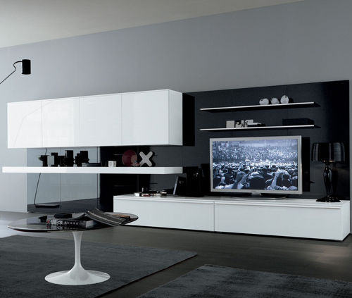 móvel de parede para TV contemporâneo / em madeira / de Mauro Lipparini