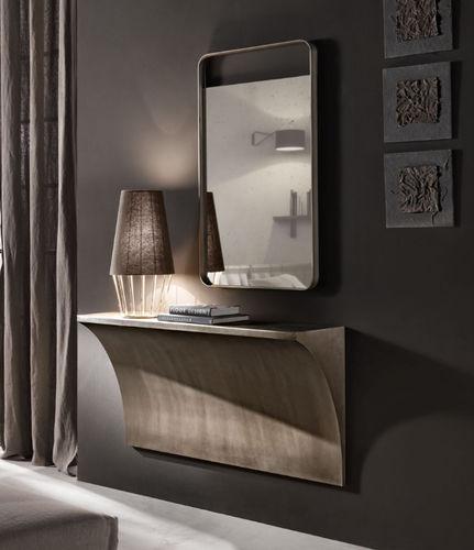 espelho de parede / contemporâneo / retangular / em alumínio